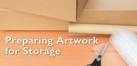 Preparing artwork for storage