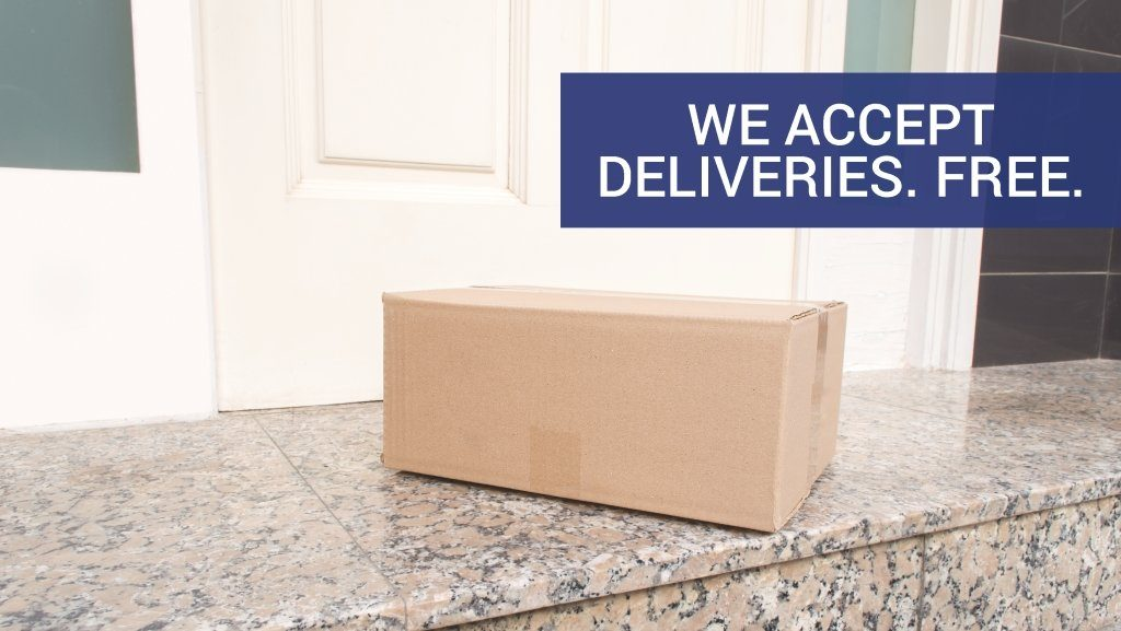 We accept deliveries for free