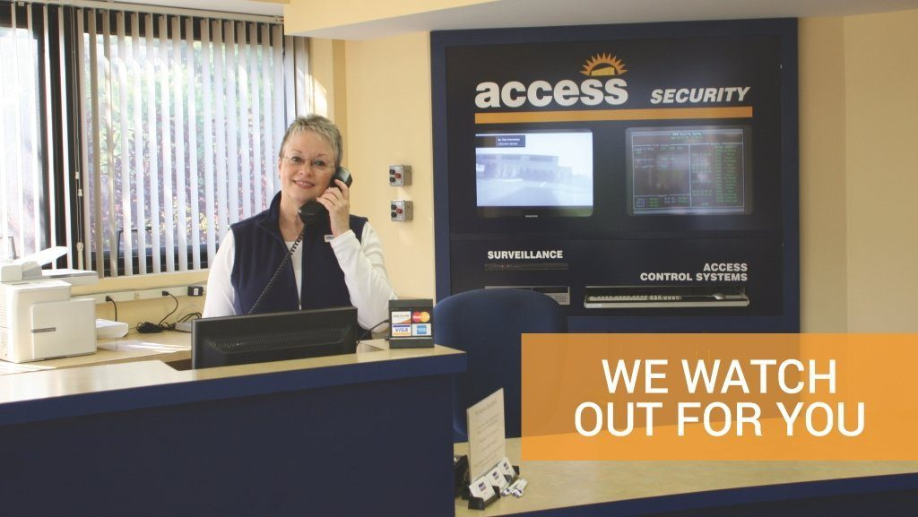 We watch out for you, security at Access Self Storage