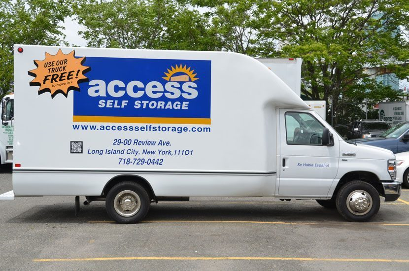 Side View Of Access Moving Truck