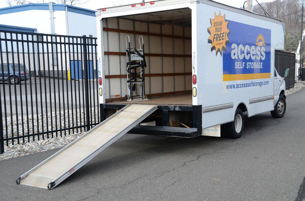 Access Self Storage branded moving truck