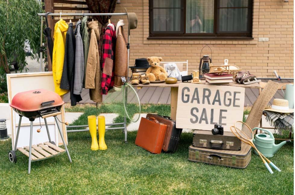 Garage sale items.